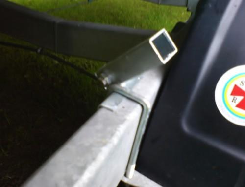 Hållare för ljusramp monterad
