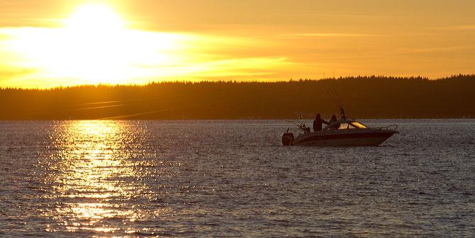 En av ett femtontal båtar som sjösatte i Granvik