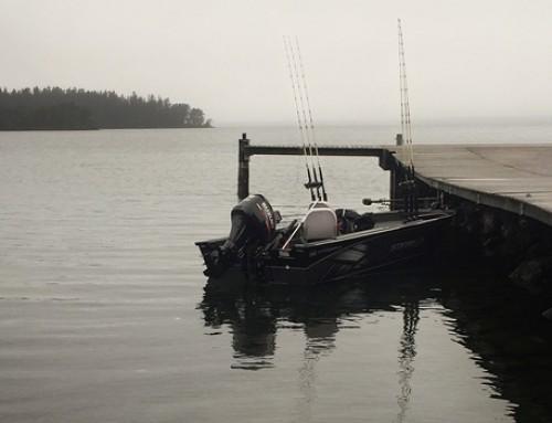 Första trollingpasset med båten